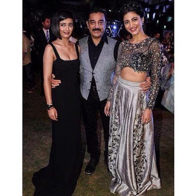 Akshara with Kamal & Shruti Haasan