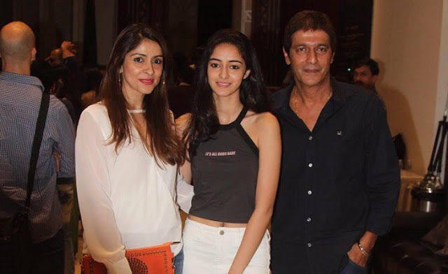 Ananya Pandey with Chunkey Pandey