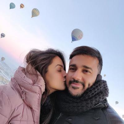 Anita Hassanandani with boyfriend Rohan