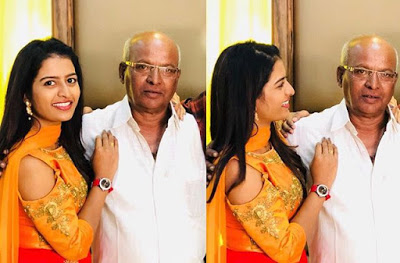 Anusha Reddy with her father photo
