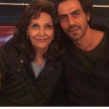 Arjun Rampal with mother Gwen