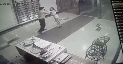 Megha fighting with Security Guard