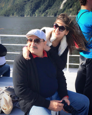 Deepika Ghose with her father