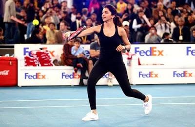 Deepika Padukone playing badminton photo