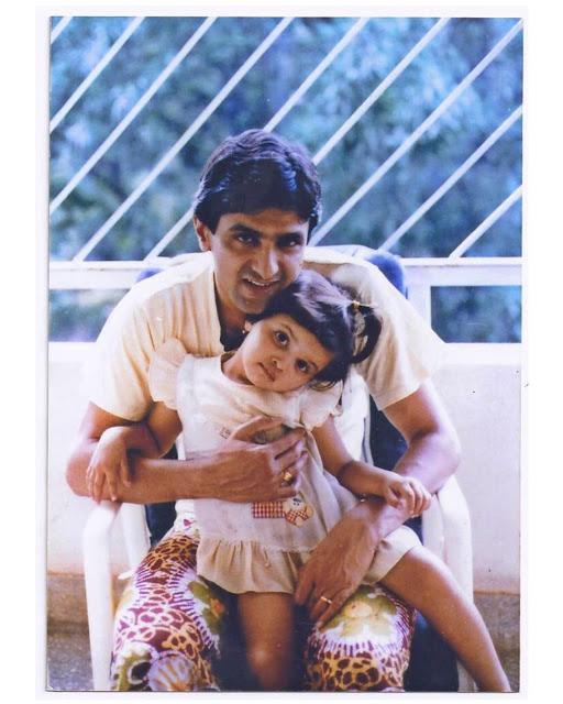 Deepika Padukone with her father