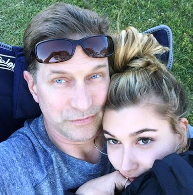Hailey with Father Stephen Baldwin