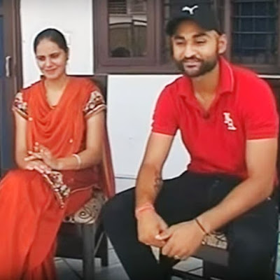 Sandeep Singh with his wife Harjinder Kaur