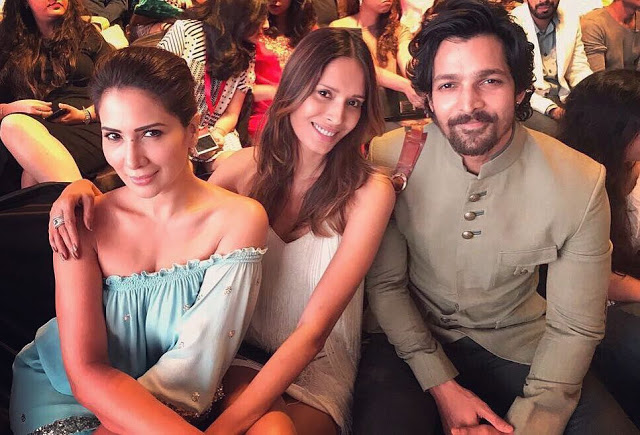 Harshvardhan with Kim Sharma