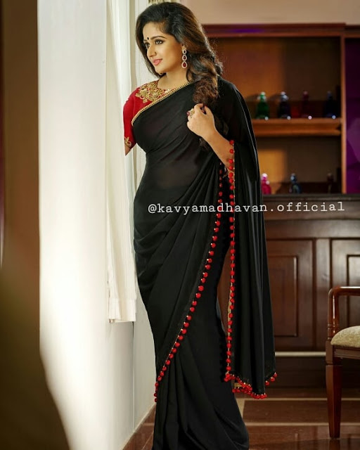 Kavya Madhavan in black saree