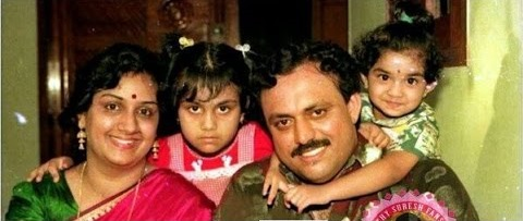 Keethy Suresh Childhood pic with family