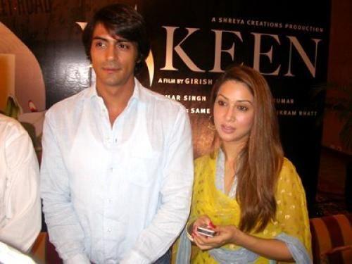 Kim Sharma with Arjun Rampal