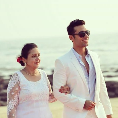 Kushal Punjabi with his mother