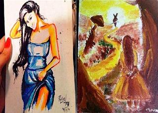 Mouni Roy's Paintings