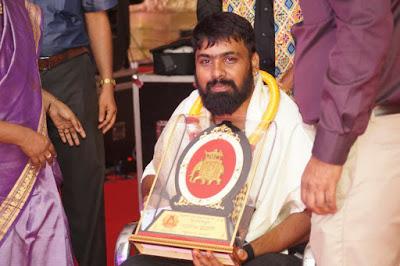 Naveen Sajju receiving Awards
