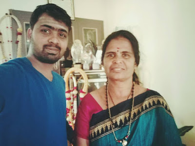 Naveen with his mother