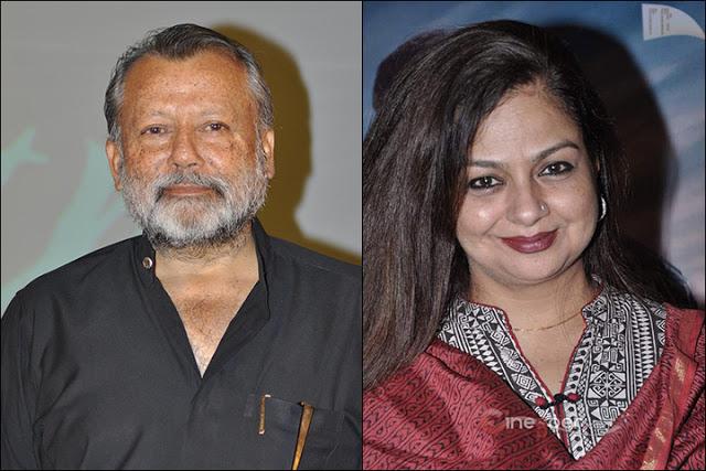 Neelima Azeem with Pankaj Kapur