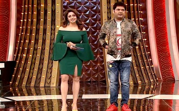 Neha Pendse in the TV show Family Time with Kapil Sharma.