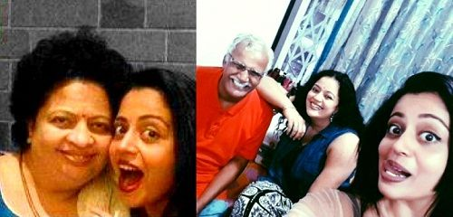 Neha Pendse with her family