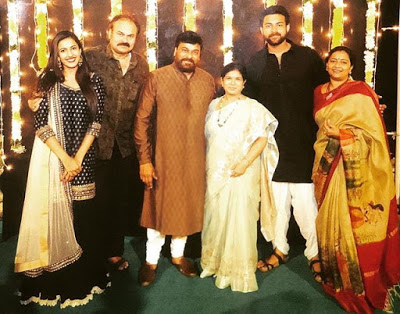 Niharika Konidela with parents and brother