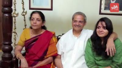 Nirmala Sitharaman with husband and daughter Parakala Vangmayi