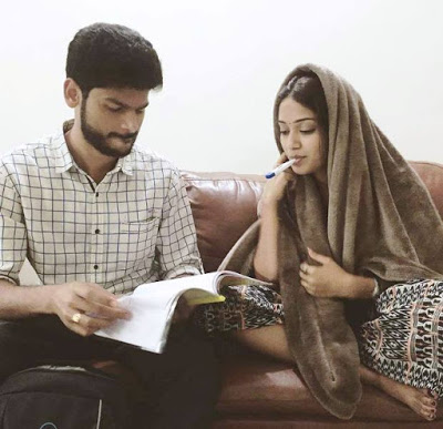 Nivetha with her brother Nishant Pethuraj