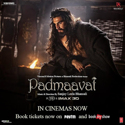 Ranveer Singh in Padmaavat movie poster
