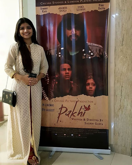 Prateeksha as a lead singer in Pakhi movie