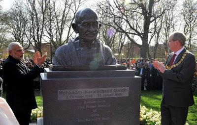 Mahatma Gandhi Sculptor created by Ram V Sutar