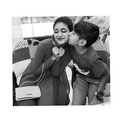 Priya Varrier with her brother