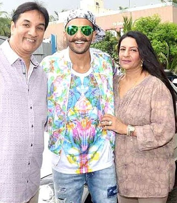 Ranveer Singh with his Parents father and mother