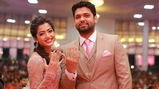 Rashmika Mandanna with Rakshit Shetty