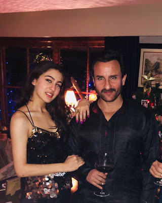 Sara Ali Khan with father Saif Ali Khan