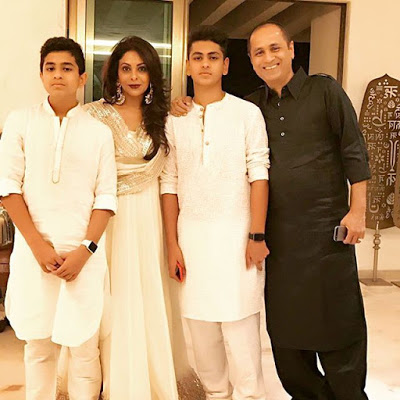 Shefali Shah with Husband Sons
