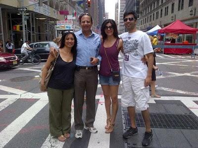 Sushmita Sen with her family