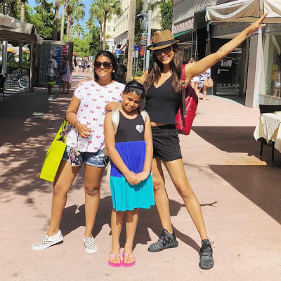 Susmita Sen with her adopted daughters