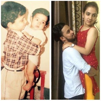 Vibhor with sister Vidushi