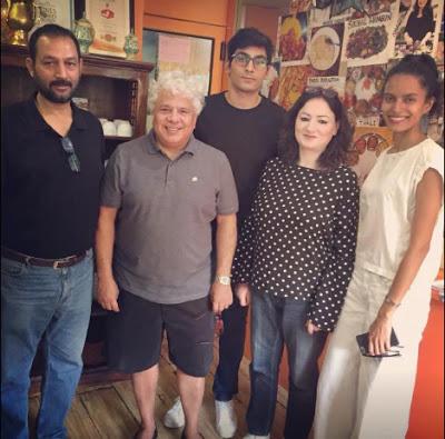 Lakshmi Menon with Suhel Seth's family
