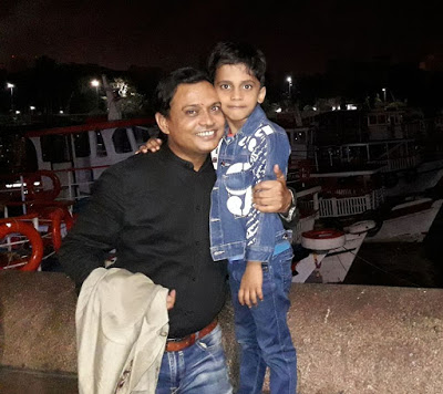 Rajeev Nigam with his son