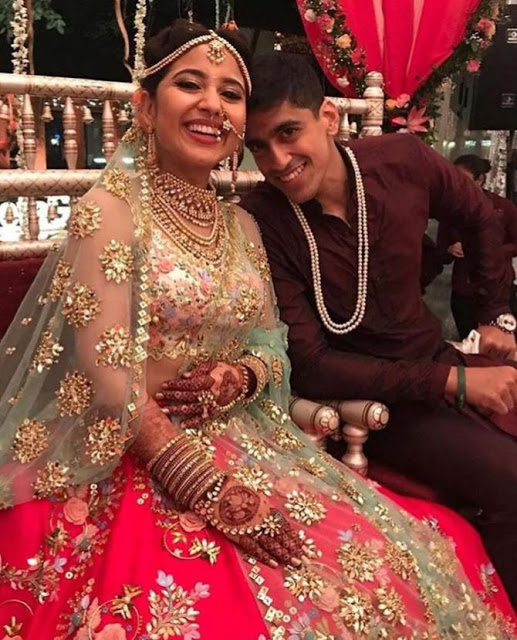 Shweta Tripathi Marriage photo with Chaitanya Sharma