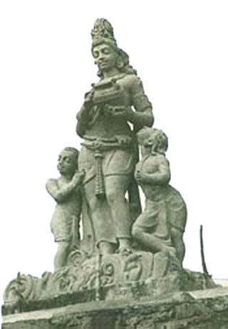The statue of Chambal Mother