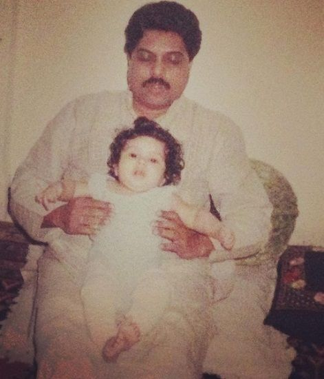 Bhumi with her father