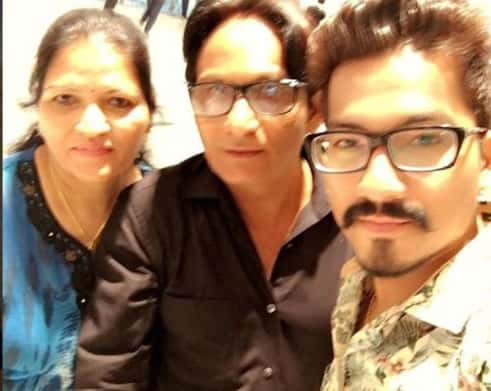 Harsh Limbachiyaa with his father and mother