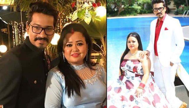 Harsh LLimbachiyaa with wife Bharti Singh