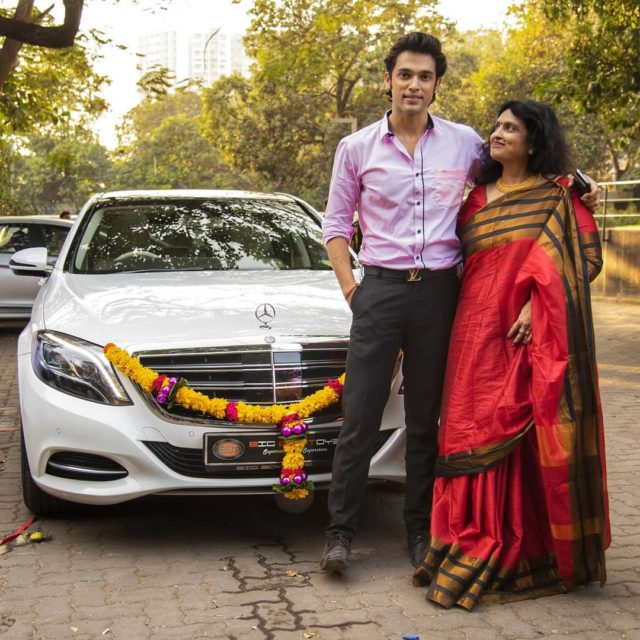 Parth Samthaan taking delivery of his first car with his mother