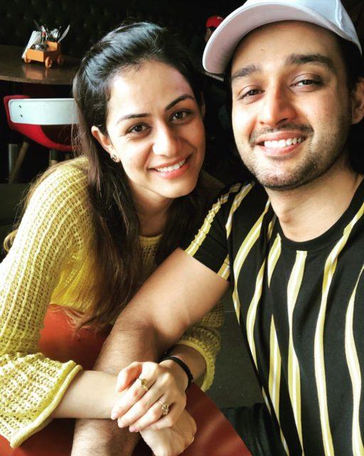 Saurabh Jain with his wife Riddhima Jain