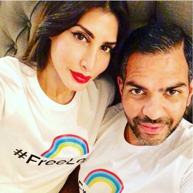 Priya Sachdev with her husband sanjay kapoor