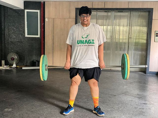 Tanmay Bhat weight lifting