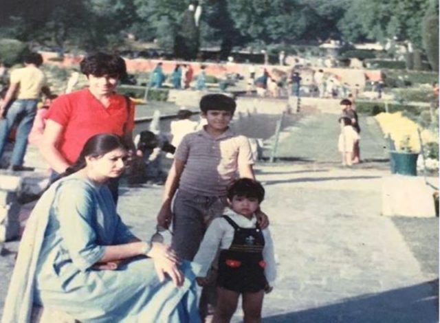 Imtiaz Ali with his mother and brothers childhood photo