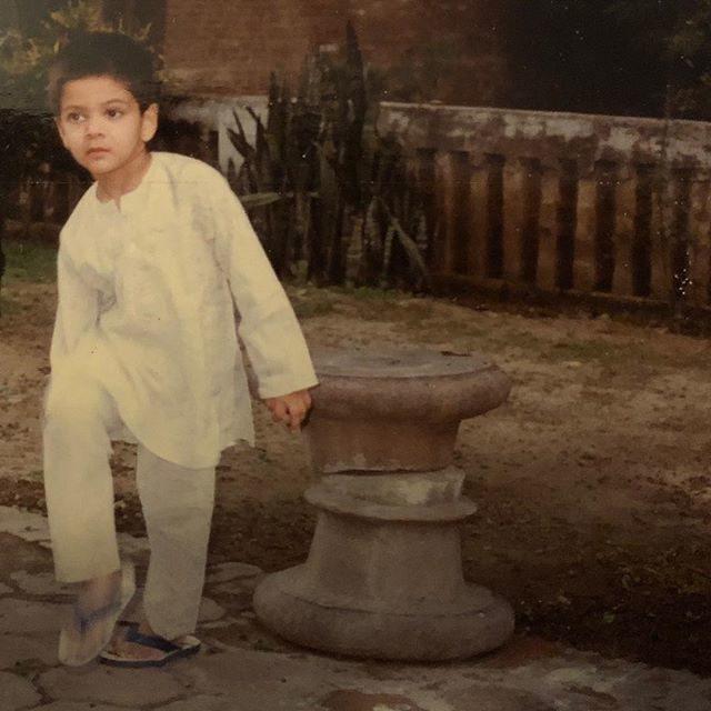 Ali Fazal childhood image